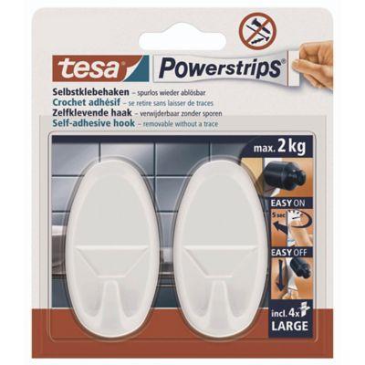 Tesa Deutschland tesa powerstrips large oval white pack of 2 lyreco