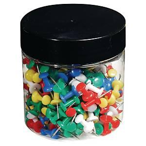 Připínáčky tvarované, mix barev, Ø 10 mm, 200 kusů