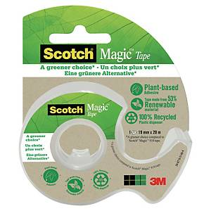 Dispenser leggero + 1 nastro adesivo invisibile Scotch®Magic™PiùVerde L33mxH19mm
