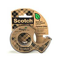 Scotch Magic Tape A Greener Choice 1 Roll 19mm x 20 m + 1 Recycled Dispenser