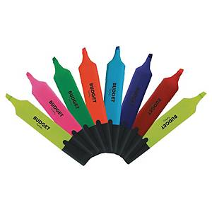LYRECO BUDGET HIGHLIGHTERS ASSORTED COLOURS - WALLET OF 8
