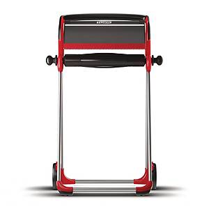 Tork mobiele vloerstandaard W1 voor poetsrol, zwart/rood, per stuk