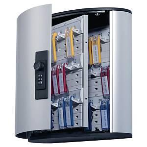 Durable kulcsszekrény, 36 kulcsos, számkódos zárral, ezüst
