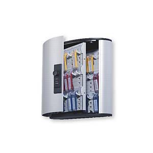 Cassetta portachiavi Durable 36 posti con combinazione in alluminio grigio