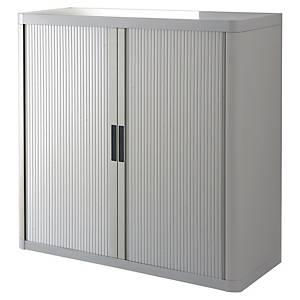 Armoire à rideaux basse Paperflow easyOffice, H 104 cm, grise