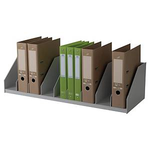 Paperflow lever arch file holder with 9 compartments grey - easyOffice cupb.