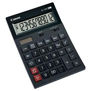 Calculadora de secretária Canon AS-1200 - 12 dígitos - preto