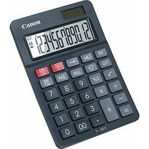 Tischrechner Canon AS-120, 12-stellig, Solar/Batterie, schwarz
