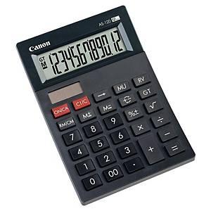Calculatrice de bureau Canon AS-120, compacte, noire, 12 chiffres