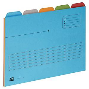Elba Ultimate inner folders with dividers for suspension files assorted - pack 5