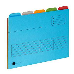 Elba Ultimate Tabbed Folders 5-Tab A4 Asst - Pack Of 5
