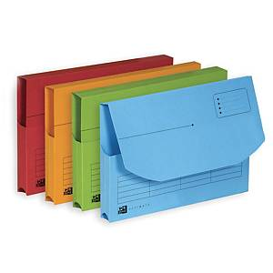 OXFORD ULTIMATE DOCUMENT WALLET A4 ASSORTED COLOURS - BOX OF 25