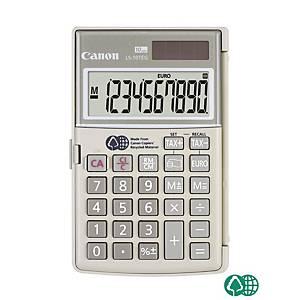 Calculatrice de poche Canon LS-10TEG, affichage de 10chiffres, gris