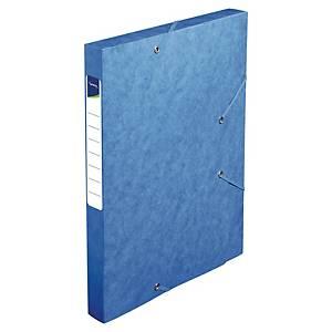 Lyreco Sammelbox mit Gummibändern, 2,5 cm, A4, blau