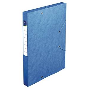 LYRECO FILING BOX PRESSPAHN 25MM BLUE