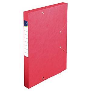 Boîte de classement Lyreco - carte - dos 2,5 cm - rouge