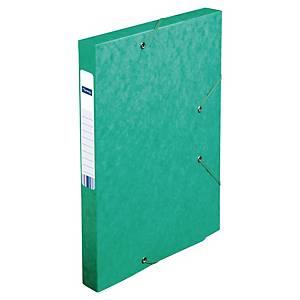 Archivačný obal s gumičkou 2,5 cm Lyreco A4 zelený