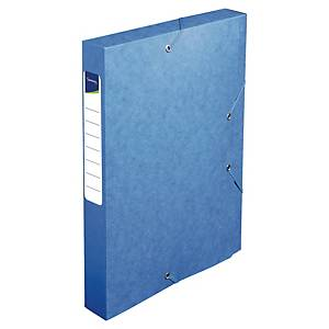 Lyreco documentbox, glanskarton, rug 40 mm, blauw, per opbergdoos