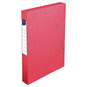 LYRECO FLAT FILING BOX C/BOARD 40MM RED