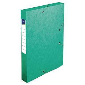 Archivační obaly Lyreco prešpán - 4 cm, zelený