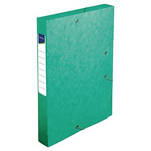 Boîte de classement Lyreco - carte - dos 4 cm - verte