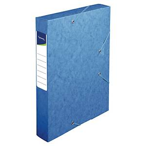 Lyreco filing box cardboard spine of 6cm blue