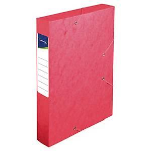 Boîte de classement Lyreco - carte - dos 6 cm - rouge