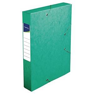 Boîte de classement Lyreco - carte - dos 6 cm - verte
