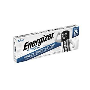 Energizer LR6/AA piles lithium appareil photo numérique - paquet de 10