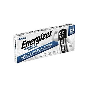 Pile lithium Energizer LR3/AAA Ultimate, les 10 piles