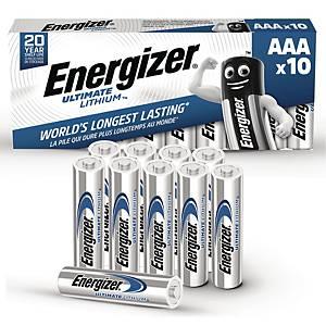 Batterier Energizer Ultimate Lithium AAA, 1,5V, pakke a 10 stk.