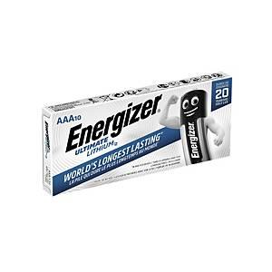 Energizer LR3/AAA Ultimate lithium batterij, per 10 batterijen