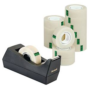 Borddispenser Scotch C38 + 14 ruller Scotch Magic tape