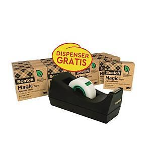 Borddispenser Scotch C38 + 14 ruller Scotch Magic-tape, 19 mm x 33 m