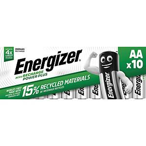 Batteries Energizer Rechargeable AA, HR6/E91/AM3/Mignon, paq. 10 unités