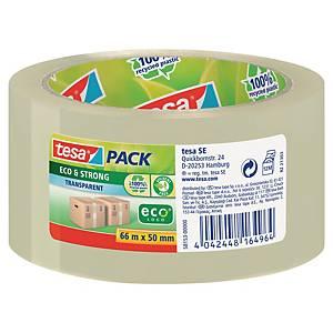 Ruban adhésif Tesapack® PP eco & strong, transparent, l50 mm x L66 m, le rouleau