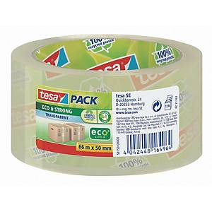 Packband Tesa tesapack 58153, Eco + Strong, 50mm x 66m, transparent