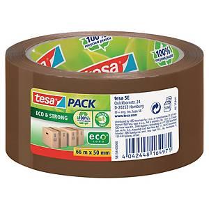 Tesapack® ecologische PP tape, bruin, 50 mm x 66 m, per rol tape
