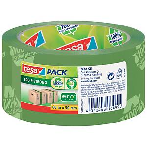 TESA ECO&STRONG PACKAGING TAPE GREEN PRINTED 50MMX66M