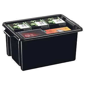 Cep Strata opbergbox in gerecycled PP, 48,5 liter, zwart, per 5 boxen