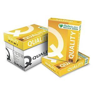 QUALITY กระดาษถ่ายเอกสาร Q-Yellow A3 70 แกรม สีขาว 500 แผ่น/รีม - 5 รีม/กล่อง