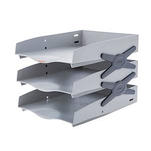 SYSMAX 22137 NEO TRAY 3 SHELVES GREY