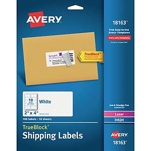 Avery L6007 A4 Label Neon Green - Pack of 20