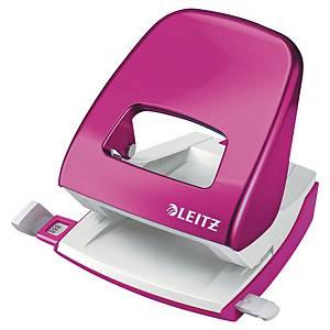 Furador de secretária Leitz Wow 5008 - 2 furos - rosa