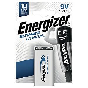 Energizer LR61/9V Ultimate lithium batterij voor rookdetectoren