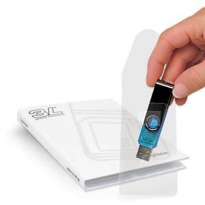 Pack 10 micas autoadesivas para USB 3L