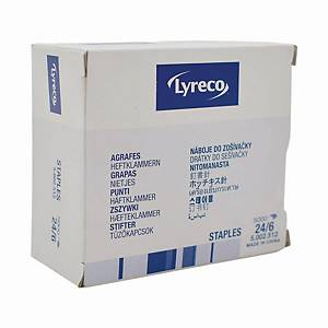 Lyreco Staple 24/6 (3-1M) - Box of 5000