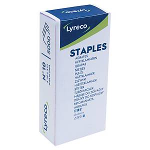 Lyreco staples, No. 10, 4 mm, package of 5000 pcs