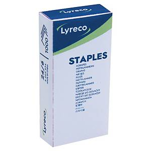 Lyreco No.24/6 (3-1M) Staples - Box of 1000