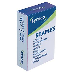 LYRECO STAPLES 26/6 - BOX OF 1000